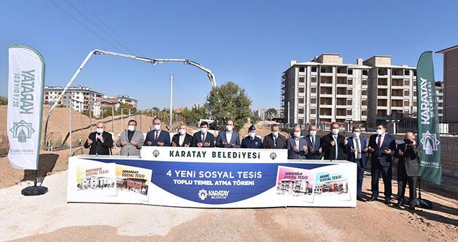 Karatay Belediyesinden 4 yeni sosyal tesis