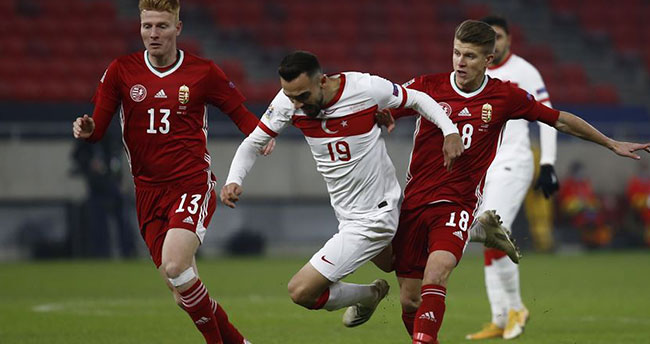 A Milli Futbol Takımı, Macaristan'a deplasmanda mağlup oldu