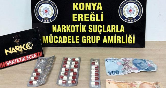 Konya'daki uyuşturucu operasyonunda 3 tutuklama