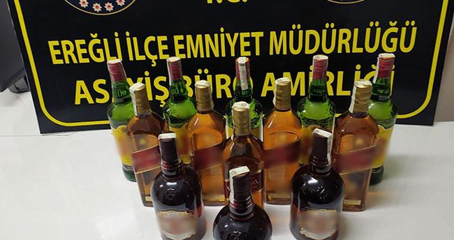 Konya Ereğli'de kaçak içki ele geçirildi