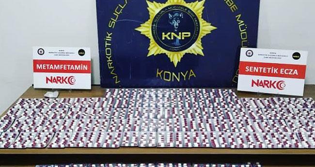 Konya'da uyuşturucu operasyonunda 11 şüpheli yakalandı