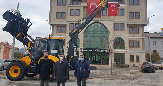 Çevre ve Şehircilik Bakanlığından Derebucak Belediyesine iş makinesi desteği