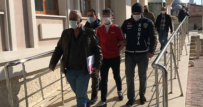 Konya'da araç gasp ederek kaçarken polise ateş açan şüpheli adliyede sevk edildi