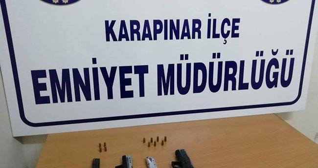 Konya'da ruhsatsız tabanca ele geçirildi
