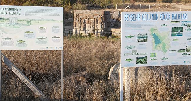 Konya'nın tarihi mekanı Eflatunpınar'da koronavirüs sessizliği yaşanıyor