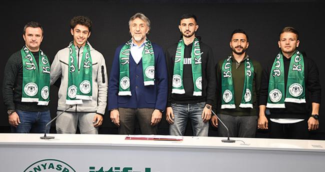 İttifak Holding Konyaspor'da 3 oyuncuyla sözleşme imzalandı