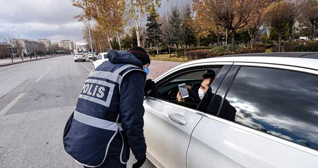 Sokağa çıkma yasağını ihlal eden 11 kişiye 38 bin 159 lira ceza uygulandı