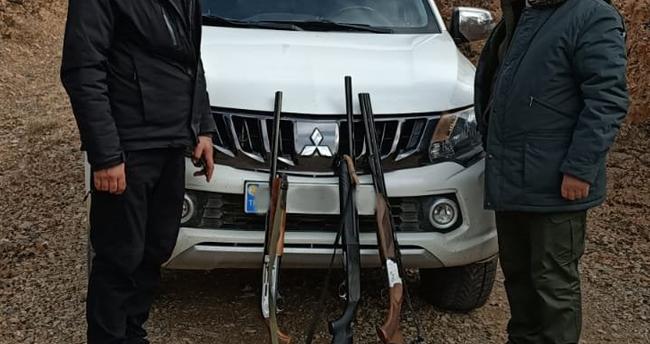 Konya'da kaçak avlanan 6 avcıya para cezası