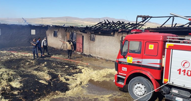 Konya'da ağılda çıkan yangında 38 küçükbaş hayvan telef oldu