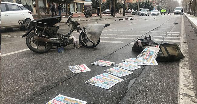 Otomobilin çarptığı gazete dağıtıcısı hayatını kaybetti