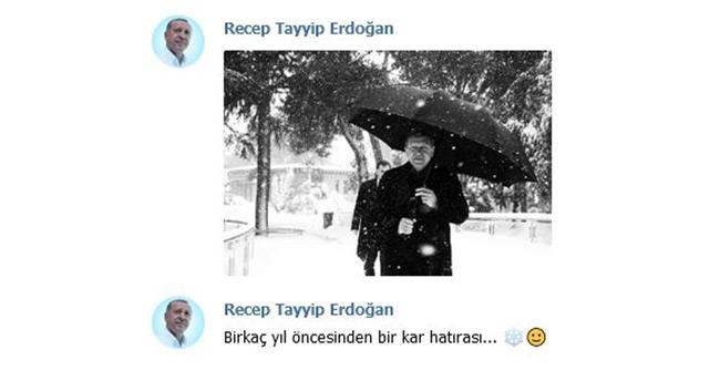 Başkan Erdoğan'dan kar hatırası paylaşımı