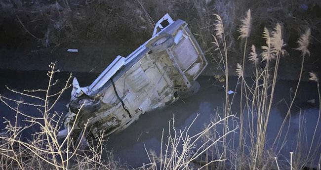 Konya'da otomobil sulama kanalına düştü! Kadın öldü, kocası yaralandı
