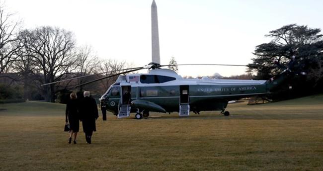 Trump ve ailesi Beyaz Saray'dan ayrıldı
