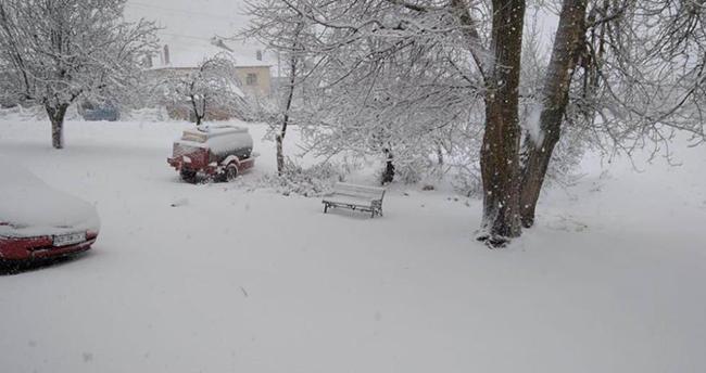 Beyşehir, Hüyük ve Derbent'te kar yağışı etkili oldu! Konya'nın ilçelerinden kar manzaraları
