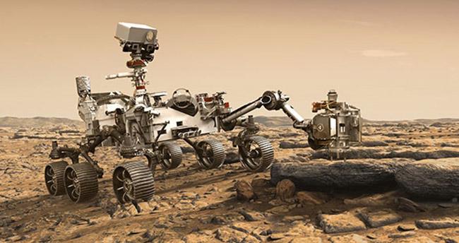 Tarihi anlar! 470 milyon km'lik yolculuk sona erdi, Mars'a iniş yaptı