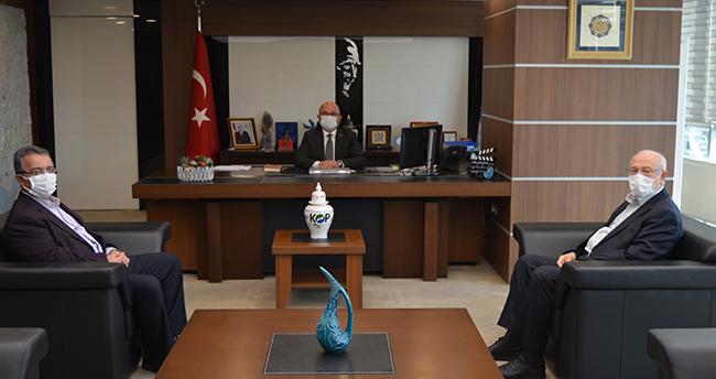 Yeni Meram'dan Başkan Şahin'e hayırlı olsun ziyareti
