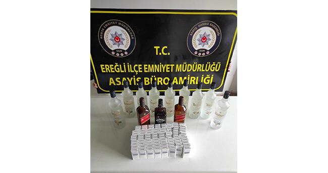 Konya'da kaçak içki operasyonunda 1 kişi yakalandı