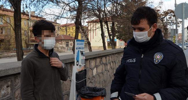 Aksaray'da karantinada olması gereken Kovid-19 temaslı kişi sahte HES koduyla yakalandı