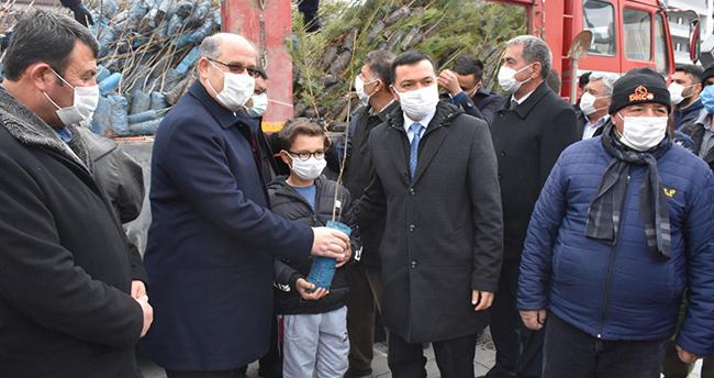 AK Parti Karapınar'da 6 bin fidan dağıttı