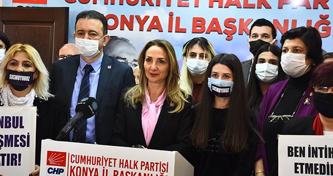 CHP Kadın Kolları Genel Başkanı Nazlıaka, Konya'da kadına şiddeti konuştu
