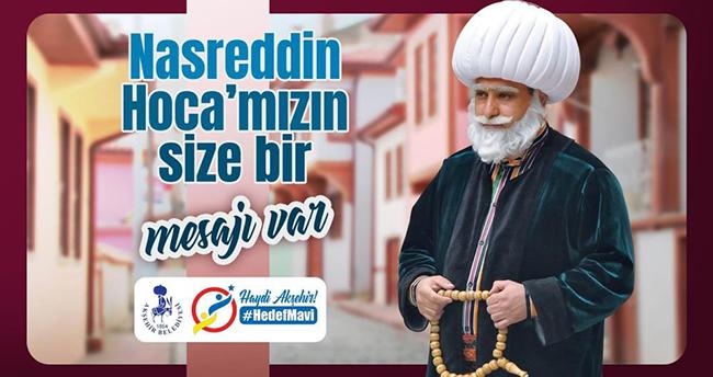 Koronavirüs vakalarının tırmandığı Konya'da Nasreddin Hoca'dan mavileşme çağrısı