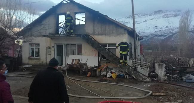 Konya'da evde çıkan yangın söndürüldü