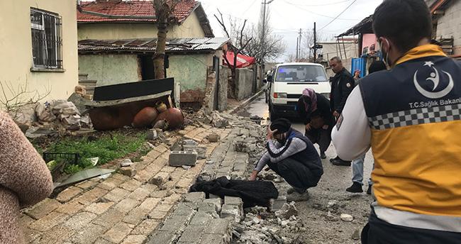 Konya'da bahçe duvarı çöktü – 5 yaşındaki çocuk öldü