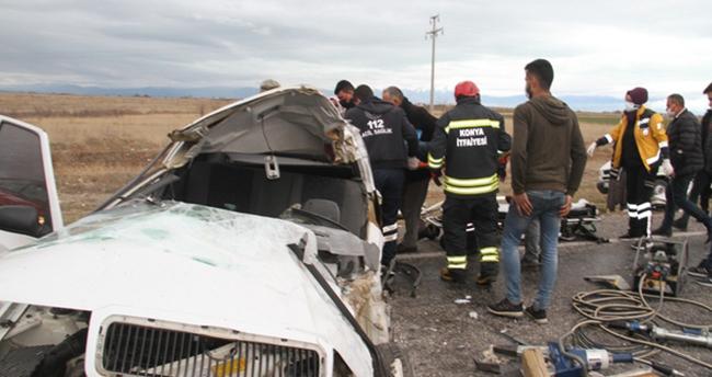 Beyşehir'deki trafik kazasında ağır yaralanan sürücü yaşam mücadelesini kaybetti