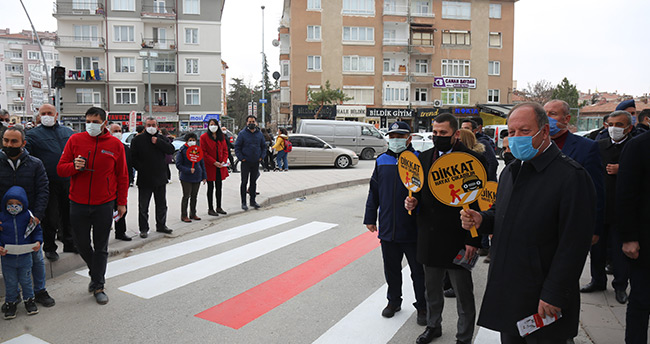 """Ereğli'de 'Yayalar Kırmızı Çizgimiz"""" etkinliği düzenlendi"""