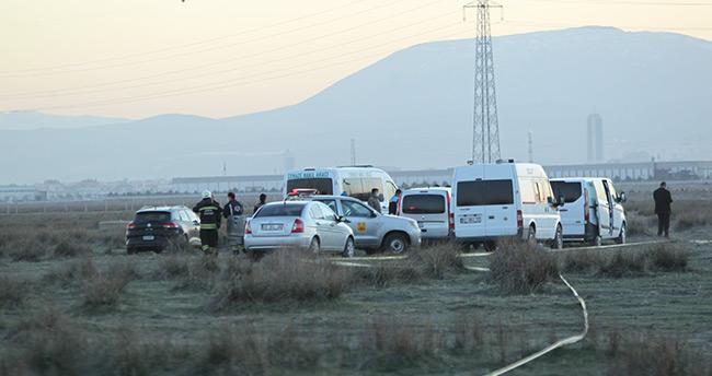 Konya'da düşen uçağın enkazında çalışmalar sürüyor