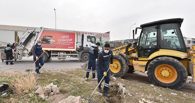 Karatay'daki sanayi sitelerinde kapsamlı temizlik seferberliği başladı