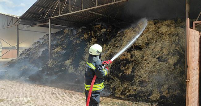 Konya'nın Seydişehir ilçesinde besi damında çıkan yangın söndürüldü