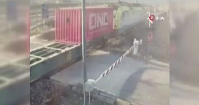 Pozantı'daki tren kazasının güvenlik kamerası görüntüleri ortaya çıktı!