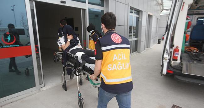 Konya'da bıçaklanan genç hastanelik oldu